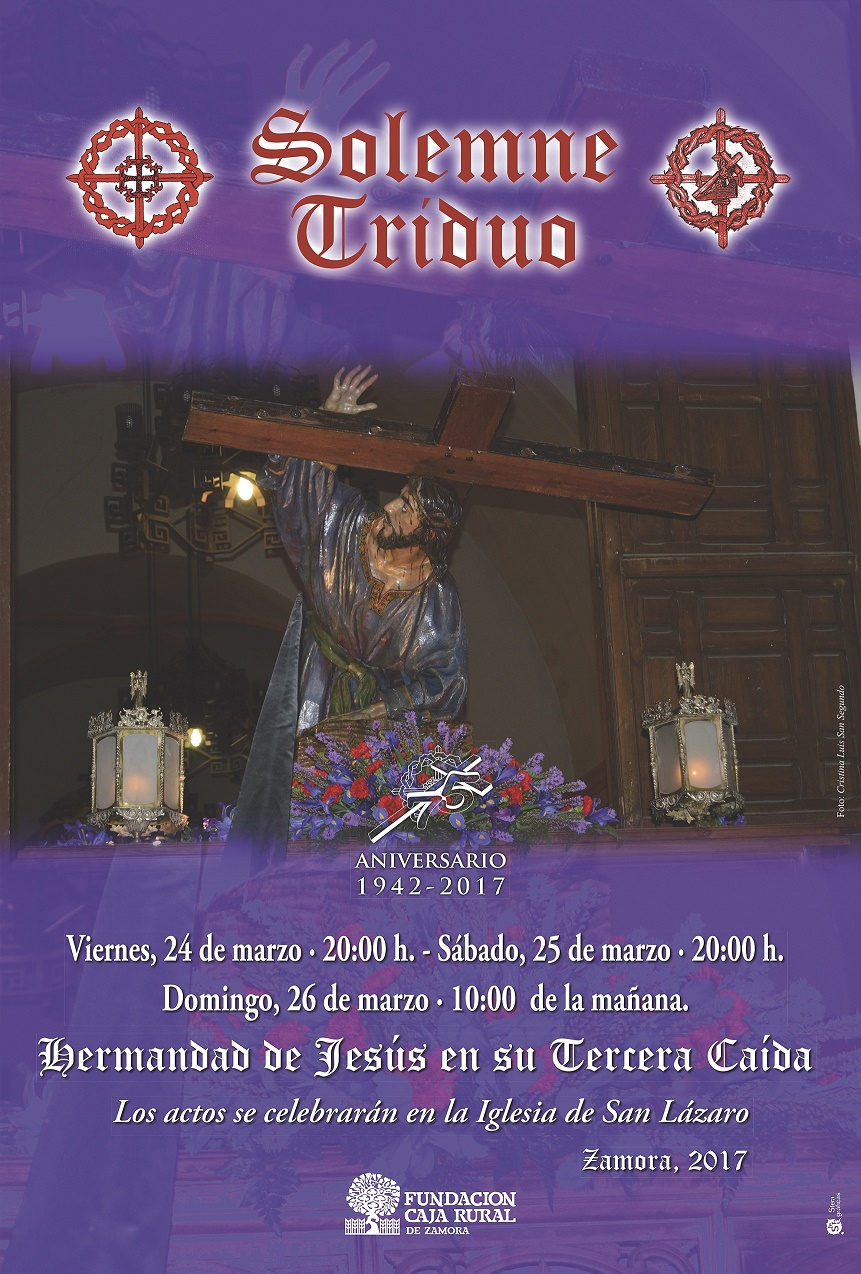 Cartel Triduo Tercera Caída 2017 web