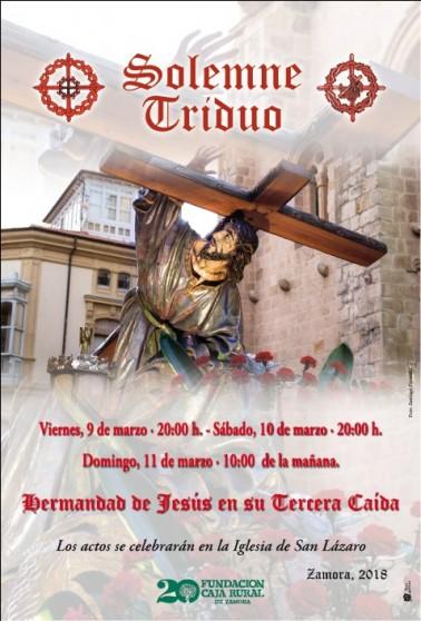 Cartel Triduo Tercera Caída 2018 web