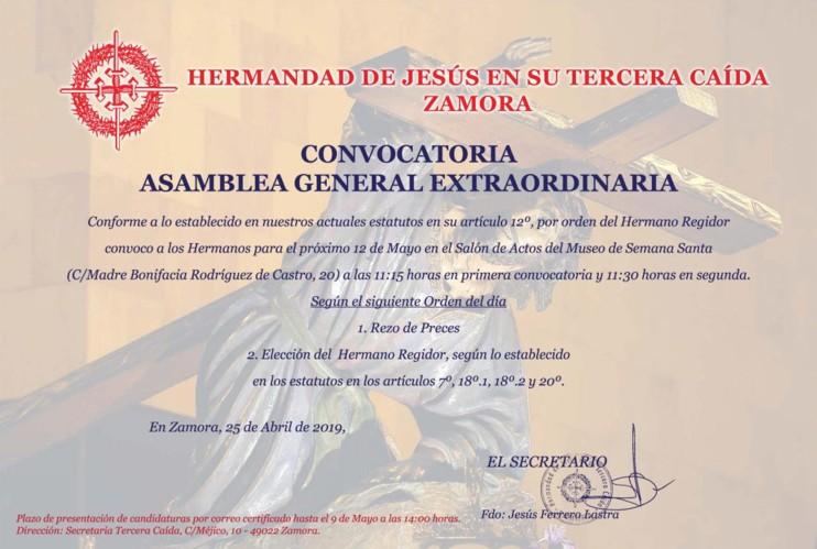 Cartel Asamblea Tercera Caida 2019