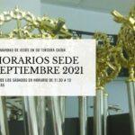 HORARIOS SEDE SEPTIEMBRE 2021-P